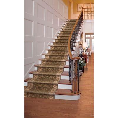 Kurdamir Rockland Green 33 in. x Your Choice Length Stair Runner