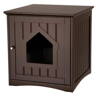 19.25 in. x 20 in. x 20 in. Wooden Pet House and Litter Box
