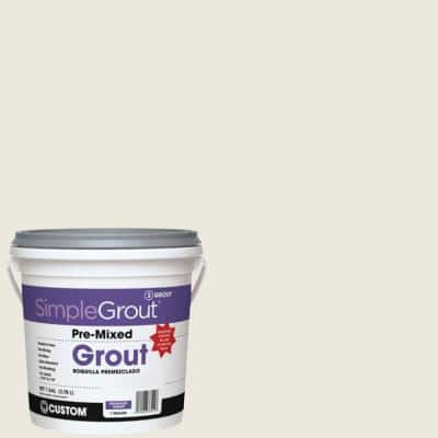 SimpleGrout #381 Bright White 1 Gal. Pre-Mixed Grout