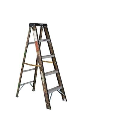 5 ft. Camouflage Fiberglass Step Ladder 9 ft. Reach Type II 225 lbs. Capacity
