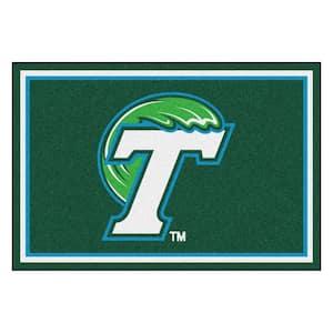 NCAA - Tulane University Green 8 ft. x 5 ft. Indoor Area Rug