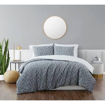 Honey Waffle Blue 2-Piece Twin/Twin XL Comforter Set