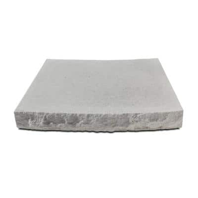 18.75 in. W x 12 in D. x 2.25 in. H Indiana Limestone Concrete Radius Seat Wall Cap Chiseled 2 Sides (3-pack)