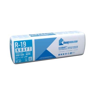 R-19 EcoBatt Kraft Faced Fiberglass Insulation Batt 6-1/4 in. x 15 in. x 94 in.