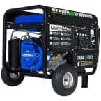 10,000-Watt/8,000-Watt Electric Start Dual Fuel Powered Portable Generator