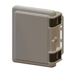 9.7 in. L x 8.2 in. W x 4.3 in. H Polycarbonate Gray Hinged Latch Top Cabinet Enclosure with Gray Bottom