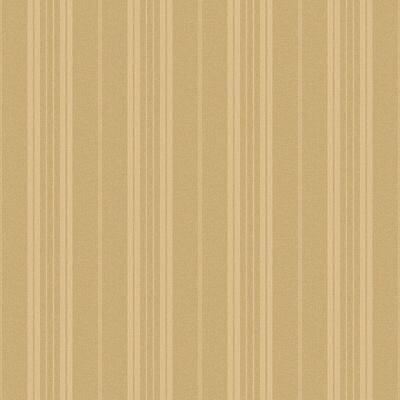 Farmhouse Gold Stripe Gold Wallpaper Sample