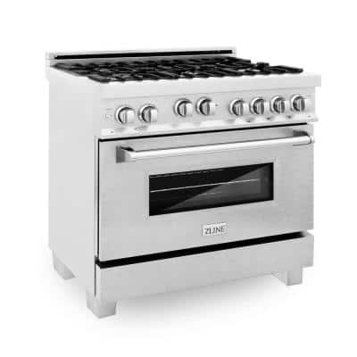 ZLINE 36 in. 4.6 cu. ft. Range with Gas Stove and Gas Oven in DuraSnow Stainless Steel