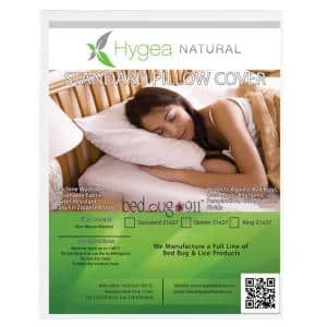 Waterproof, Dust Mite, Lice and Allergen Proof Pillow Encasement Luxurious Bed Bug Pillow Cover in Standard (2-Pack)
