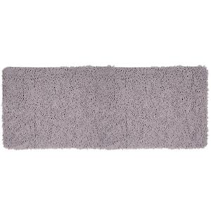 Shag Grey 24 in. x 60 in. Memory Foam Bath Mat