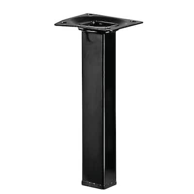 5.9 inch Black Square Table Leg Set (Set of 4)