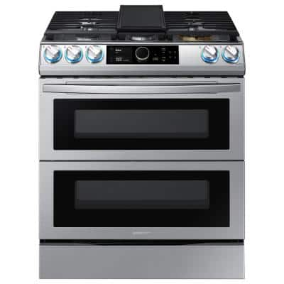 30 in. 6.3 cu. ft. Flex Duo Slide-in Dual Fuel Range with Air Fry in Fingerprint Resistant Stainless Steel