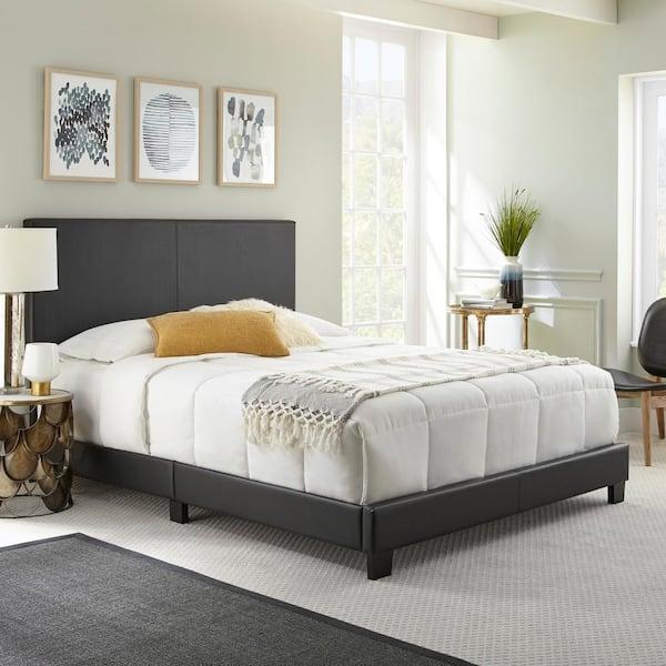 Rest Rite Barrett Black Queen, Black Upholstered Platform Bed Queen