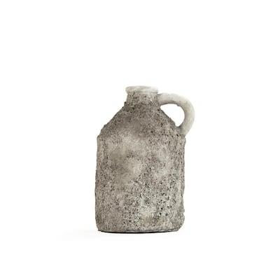 Polyresin Grey Small Decorative Pitcher Vase