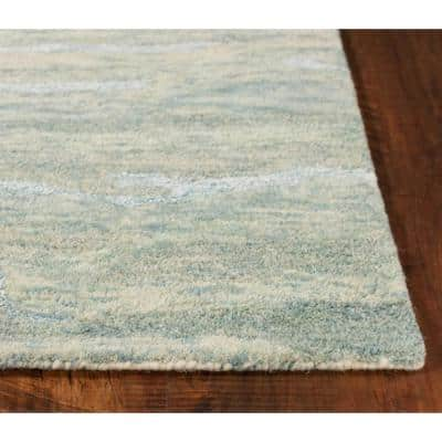 Josephine Seafoam 7 ft. x 9 ft. Rectangle Wool Scatter/Accent Rug