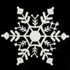 6.25 in. White Glitter Snowflake Hanging Christmas Ornaments (12-Count)
