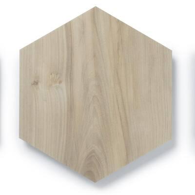 MosaiCore Balsam Poplar Hex 8.2 in. x 10.375 in. Glue Down Luxury Vinyl Tile (12.25 sq.ft./Case)