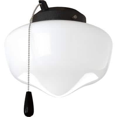 Fan Light Kits Collection 1-Light Forged Black Ceiling Fan Light Kit
