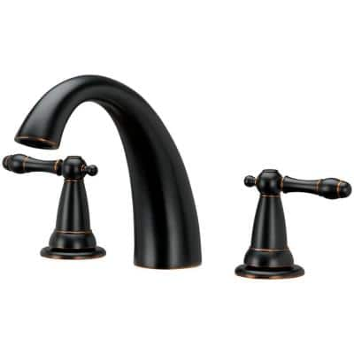2-Handle Roman Tub Faucet in Brushed Bronze