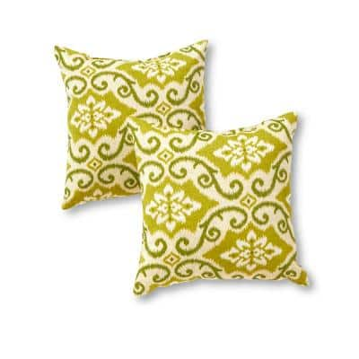 Shoreham Ikat Square Outdoor Throw Pillow (2-Pack)