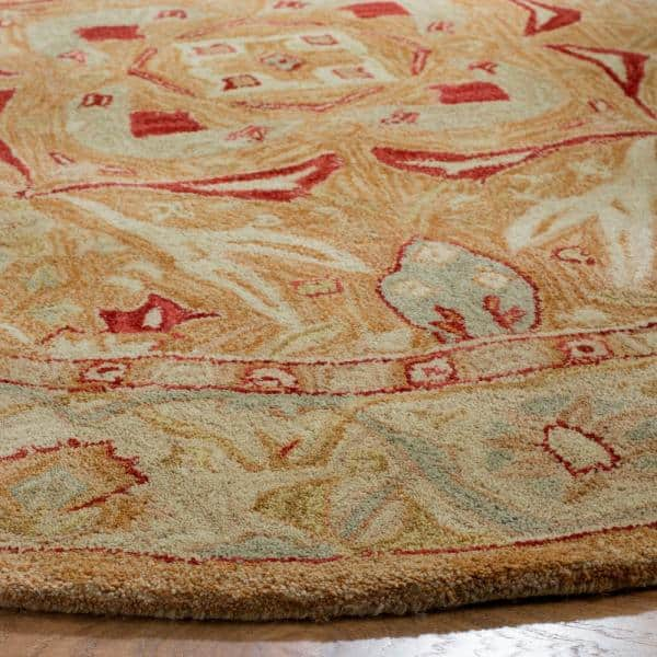 Safavieh Anatolia Straw Ivory 6 Ft X 6 Ft Round Area Rug An515a 6r The Home Depot