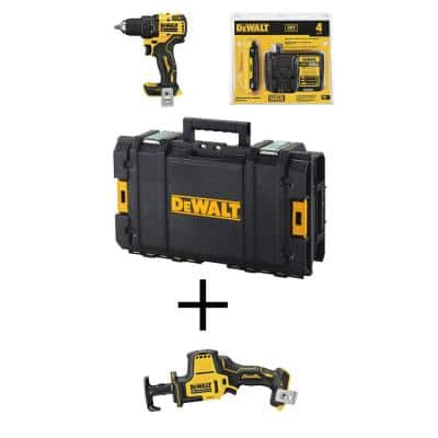 ATOMIC 20-Volt MAX Cordless Brushless 1/2 in. Drill/Driver Kit, (1) 4.0Ah Battery, Reciprocating Saw & Tough System