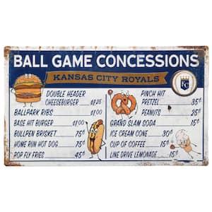 Kansas City Royals Ball Game Concessions Metal Sign