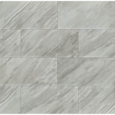 Eden Bardiglio 12 in. x 24 in. Polished Porcelain Floor and Wall Tile ( 16 sq. ft./Case )