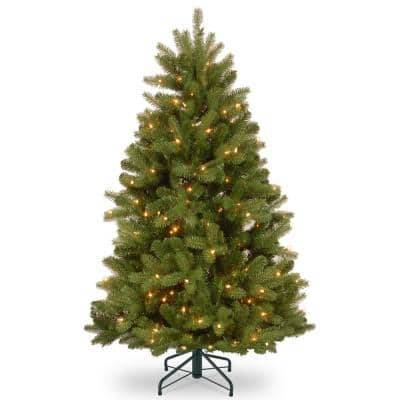 5 ft. Feel Real Newberry Spruce Hinged Tree with 500 Clear Lights