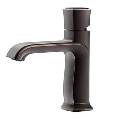 Oil Rubbed Bronze Single Handle Deck Mount Bathroom Sink Faucet