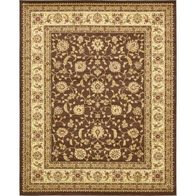 Unique Loom Voyage St Louis Brown 8 0 X 10 0 Area Rug 3132924 The Home Depot