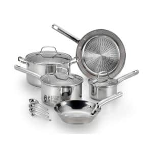 Performa Pro 12-Piece Stainless Steel Nonstick Cookware Set