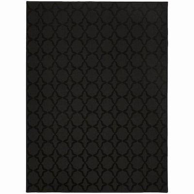 Sparta Black 8 ft. x 10 ft. Area Rug