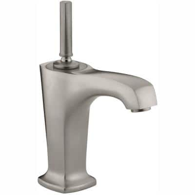 Margaux Single Hole Single Handle Low-Arc Bathroom Vessel Sink Faucet in Vibrant Brushed Nickel