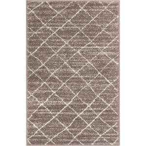 Well Woven Sydney Zen Abstract Mid Century Autumn 2 Ft X 4 Ft Modern Area Rug 21393 The Home Depot