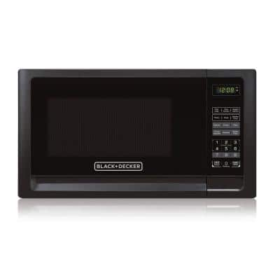 1.1 cu. ft. Countertop Digital Microwave in Black