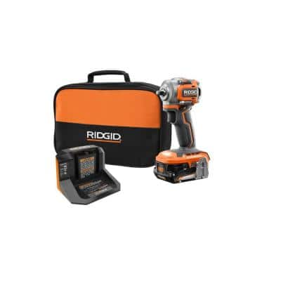 18V SubCompact Brushless Cordless 3/8 in. Impact Wrench Kit with Belt Clip, 2.0 Ah Battery, and 18V Charger