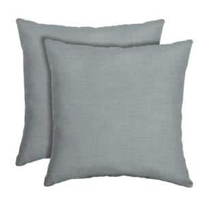 16 in. x 16 in. Stone Leala Texture Outdoor Square Pillow (2-Pack)