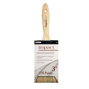 3 in. Flat Bristle Oil Brush