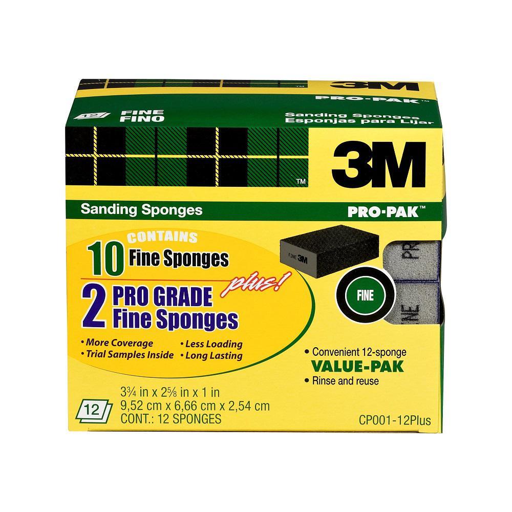 3-3/4 in. x 2-5/8 in. x 1 in. Fine Grit Sanding Sponge (Case of 4, 12-Packs)