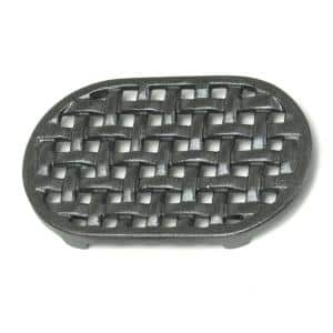 6.5 in. Dia Black Oval Cast Iron Lattice Trivet