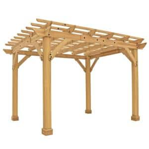 10 ft. x 12 ft. Meridian Pergola with Natural Cedar Stain