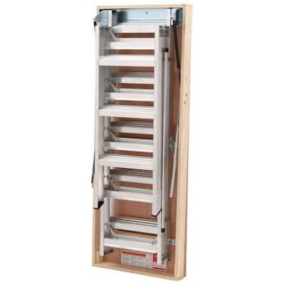 12 ft., 25 in. x 66 in. Aluminum Attic Ladder with 375 lb. Maximum Load Capacity