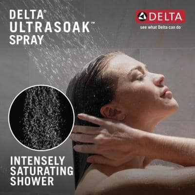 1-Spray Pattern with 2.5 GPM 12 in. Ceiling Mount Fixed Shower Head with H2Okinetic UltraSoak Spray in Polished Nickel