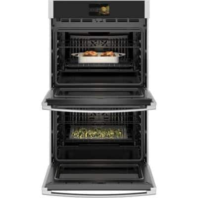 Profile 30 in. Smart Double Electric Wall Oven with Convection Self-Cleaning in Stainless Steel