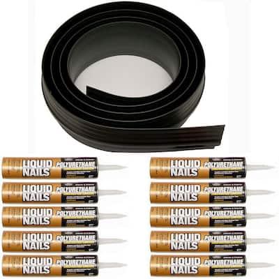 100 ft. Black Garage Door Threshold Kit