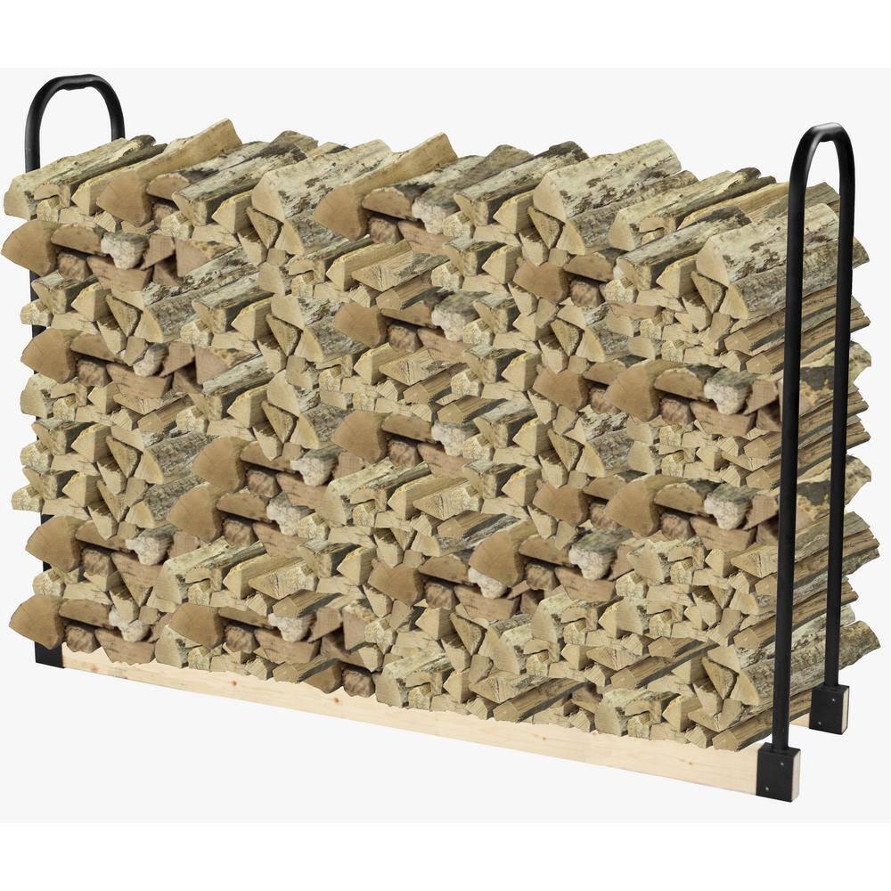 Pleasant Hearth Adjustable Firewood Rack Bracket Kit Ls932b The Home Depot