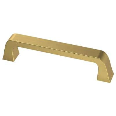 Classic Bell 3-3/4 in. (96mm) Center-to-Center Brushed Brass Drawer Pull