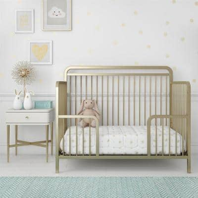 Holly Champagne Gold Metal Toddler Guardrail