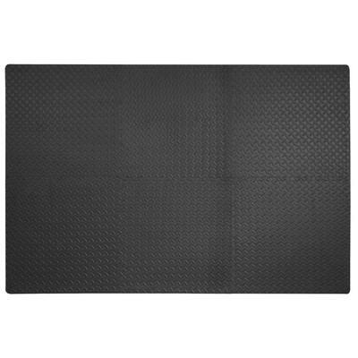Dark Gray 24 in. W x 24 in. L x 0.47 in. T Foam Interlocking Gym/Garage Flooring (24 sq. ft.) (6-Pack)